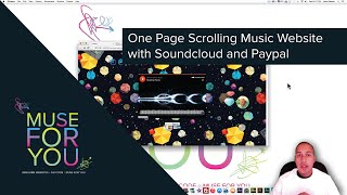 Adobe Muse CC 2014.3 | One Page Scrolling Music Website | SoundCloud and PayPal | Muse For You