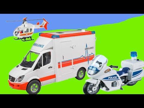 Neue Einsatzfahrzeuge 🚚🚑🚒  - Krankenwagen, Polizei und Hubschrauber im Einsatz