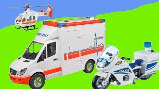 Rescue vehicles 🚚🚑🚒  - Krankenwagen, Polizei und Hubschrauber im Einsatz