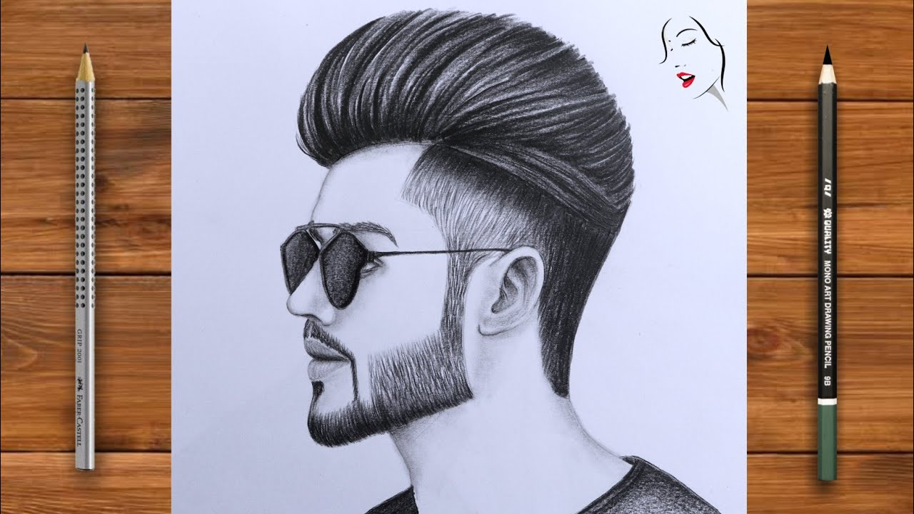 How to Draw a Beautiful Boy Face stey by step | Pencil Sketch | Boy Drawing/ A Boy Face with Glasses