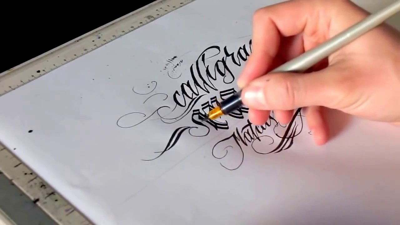 How to write calligraphy masters with pilot parallel pen by