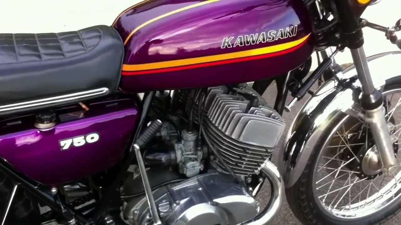 Kawasaki H2a 750 1973 Triple 2 Stroke - YouTube