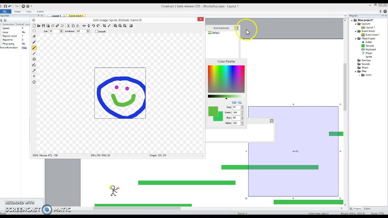 Simple platformer in Construct 2 - video 4