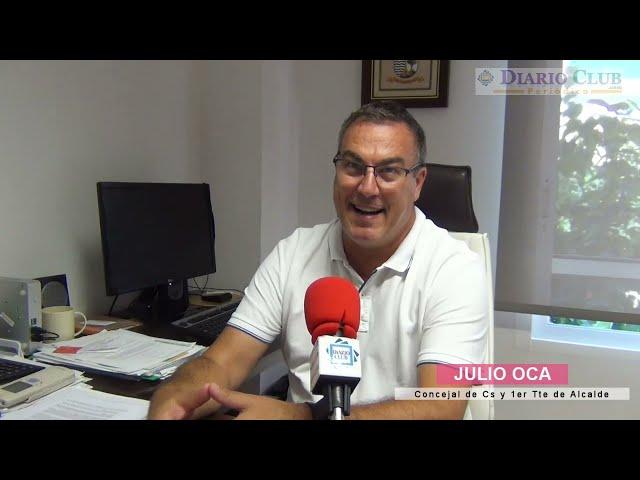 Entrevista JULIO OCA concejal de Ciudadanos y 1er Tte de Alcalde de El Campello. Pleno de Agosto.