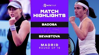 Watch the match highlights from paula badosa gibert vs. anastasija sevastova 2021 mutua madrid open.subscribe to wta on : http://www.yout...