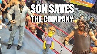 GTS WRESTLING: Foleys SAVIOR SON! WWE Mattel Figure Matches Animation PPV Event!