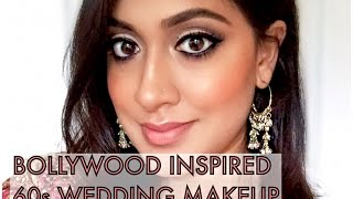 Soft, Neutral Cut Crease Indian Wedding Look | Bollywood 60s/70s Inspired Makeup