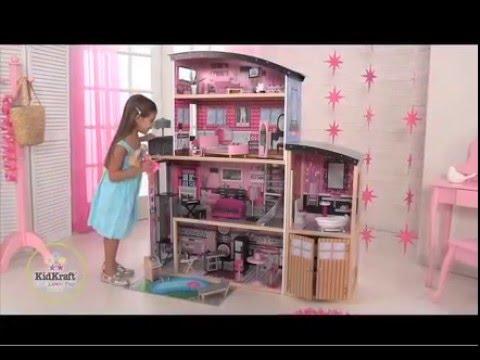 65826 KidKraft Holz Puppenhaus Glitzer Puppen-Villa By D-Edition TV