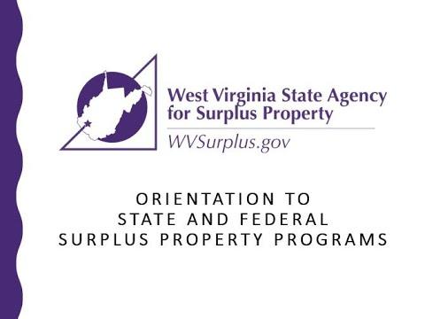 WV Surplus Webinar For Eligible Organizations