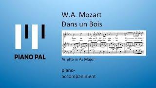 Dans un Bois Mozart KARAOKE/ACCOMPANIMENT