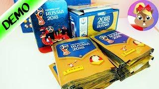 OTWARCIE 100 OPAKOWAŃ z Albumu Panini Sticker WM Russia 2018! 500 NAKLEJEK - unboxing