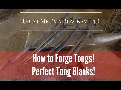 How to Forge Epic Tongs Blanks Every Time!  Trust Me I'ma Blacksmith