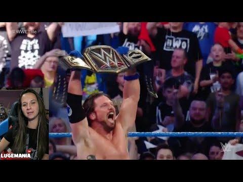 WWE Smackdown 11/7/17 AJ Styles vs Jinder Mahal WWE Championship Match Manchester