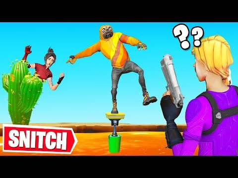 SNITCH or CHALLENGE to LIVE! (Fortnite Hide & Seek)