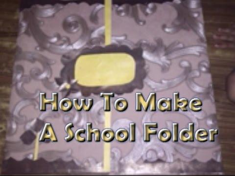 How to make a school folder - DIY