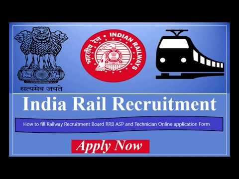 How to fill Railway Recruitment Board RRB ASP and Technician Online application Form