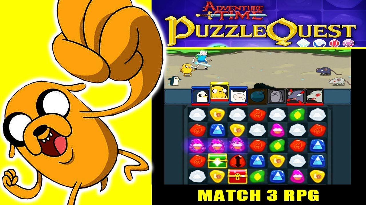 adventure time puzzle quest match 3 rpg game ios gameplay youtube