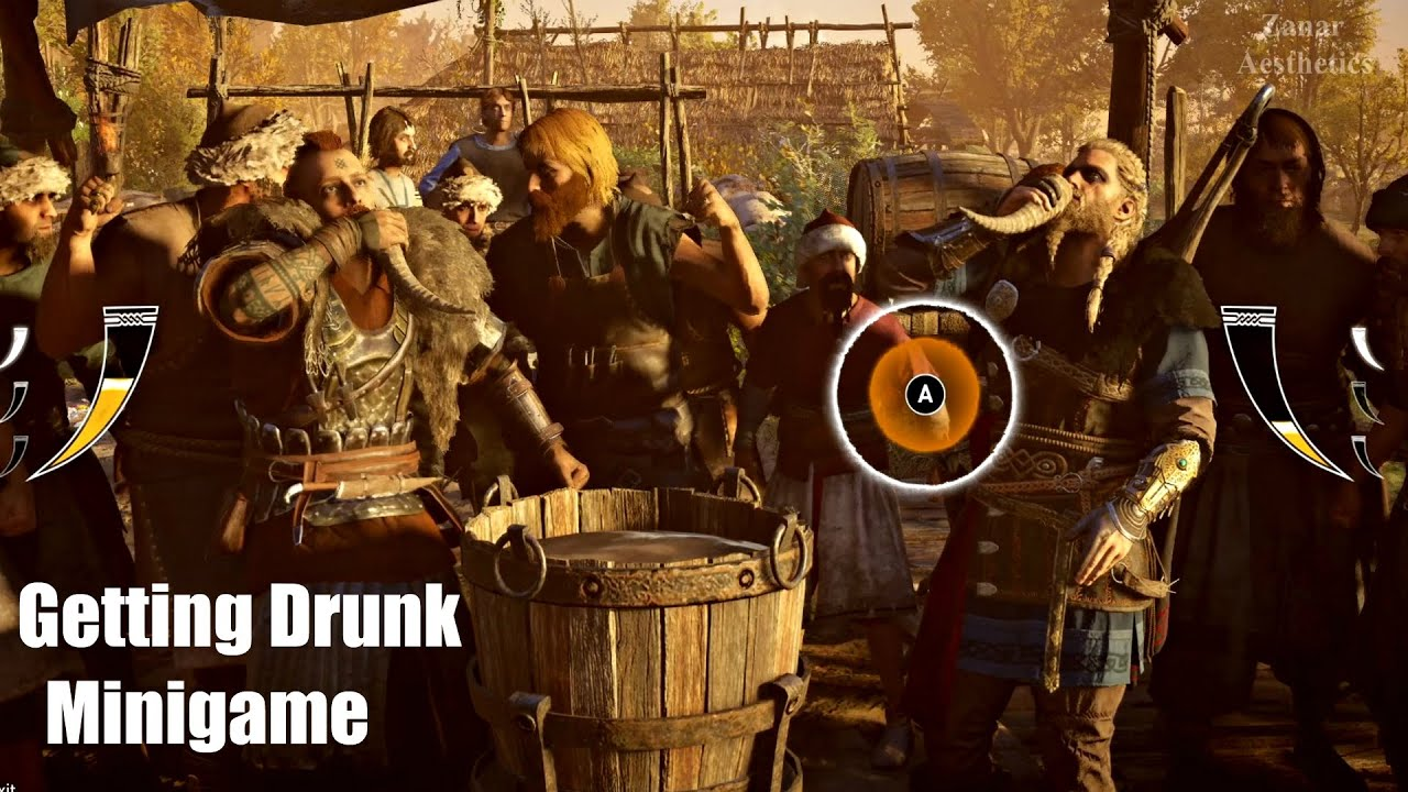 Assassin S Creed Valhalla Wedding And Getting Drunk Gameplay Assassin S Creed 2020 Youtube