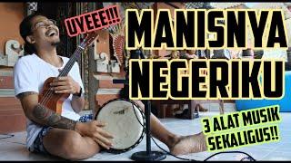 Aseek! MANISNYA NEGERIKU - PUDJIONO    UKELELE +DJIMBE REGGAE COVER