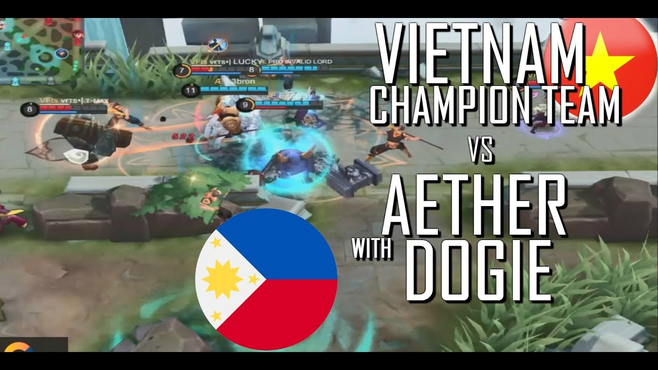 VIETNAM CHAMPION TEAM VS DOGIE AETHER - MOBILE LEGENDS - 1000 DIAMONDS GIVEAWAY - RANK GAME