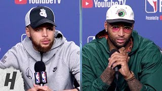 Steph Curry & DeMarcus Cousins Postgame Interview - Game 2 | Warriors vs Raptors | 2019 NBA Finals