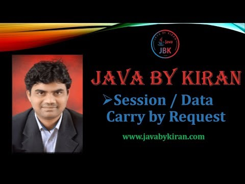 Session / Data Carry by Request-By Kiran Sir-JAVA By Kiran,Pune