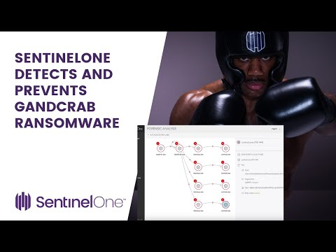 SentinelOne detects and protects from gandcrab ransomware