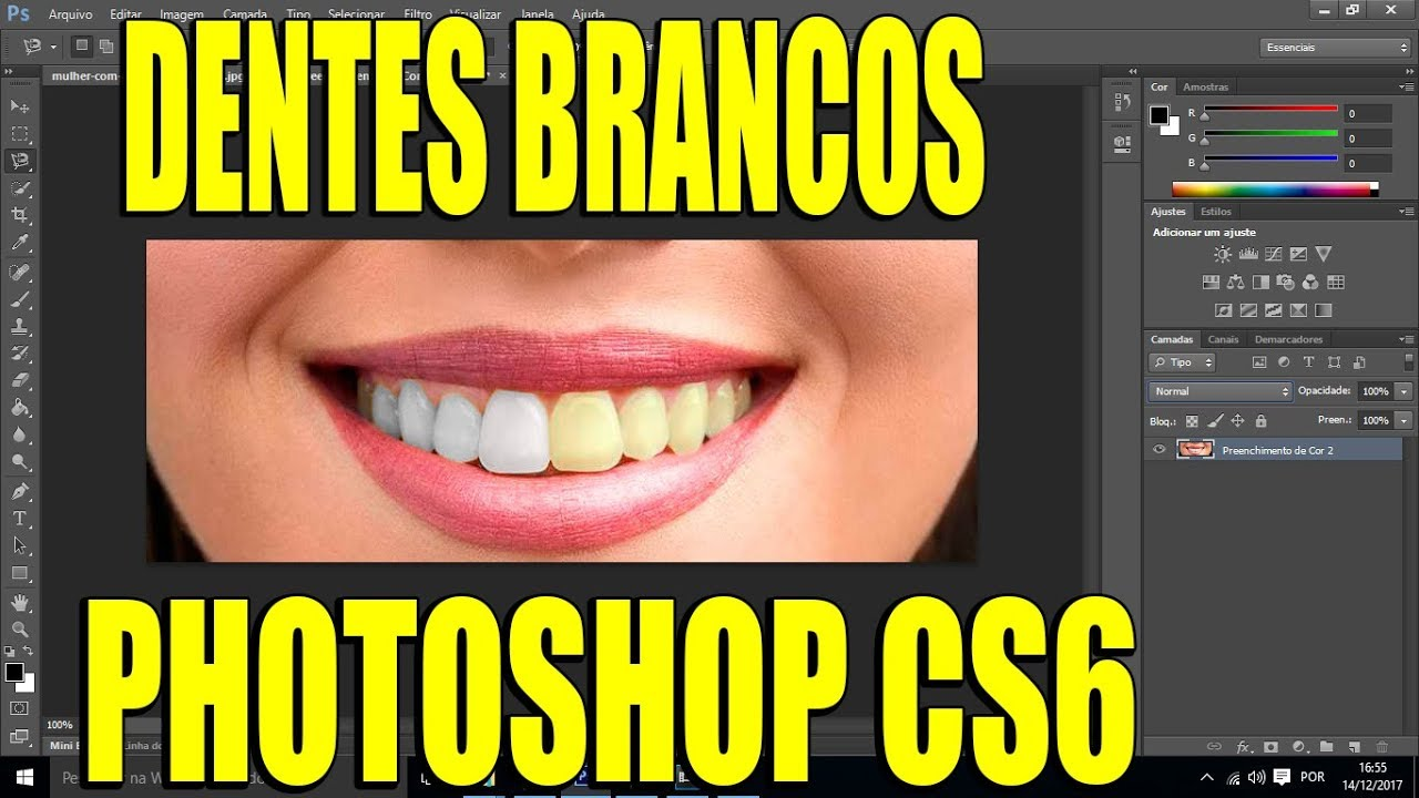 Dentes Brancos Photoshop Cs6 Youtube