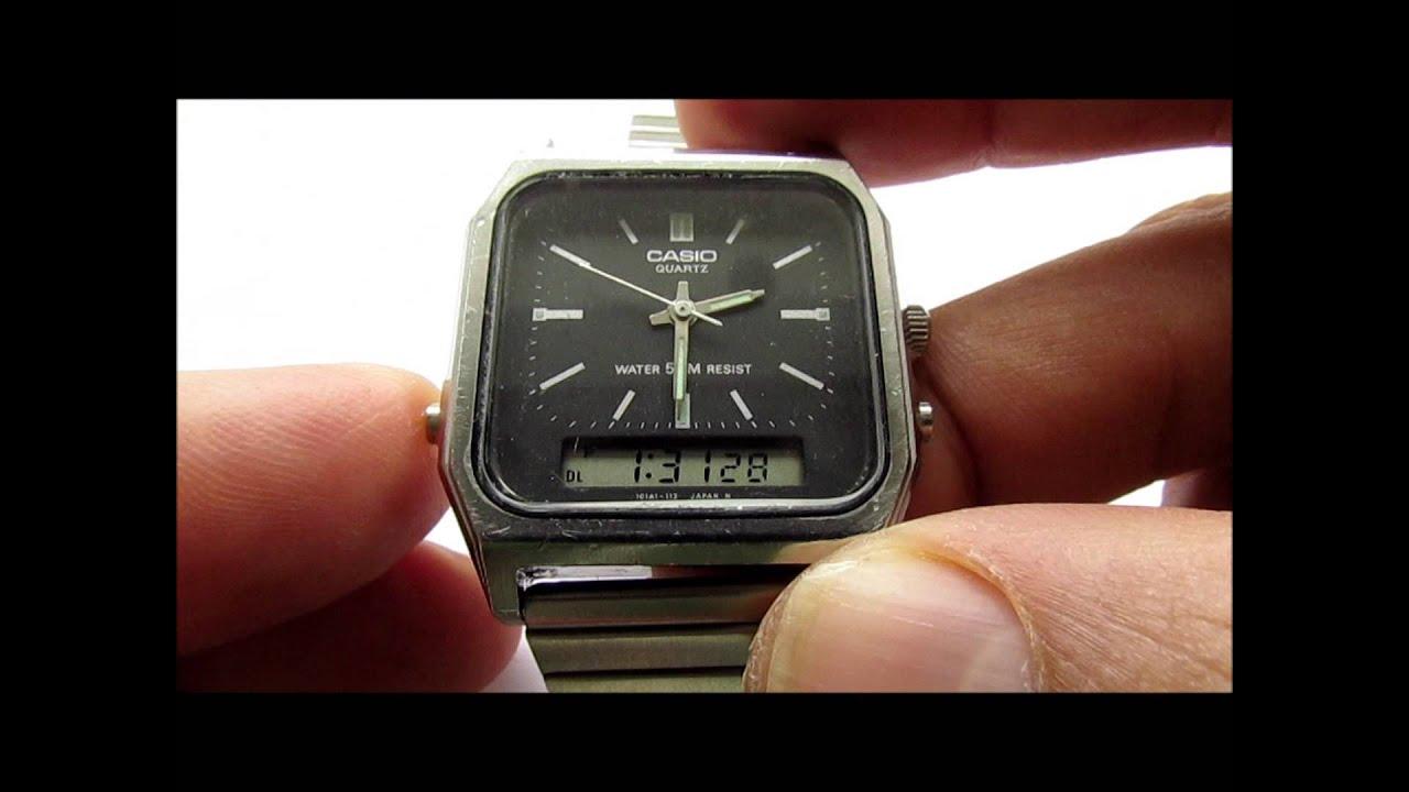992e7e72cee5 Casio AQ-350W (305) Digital Anolog Wrist Watch by vintage watches