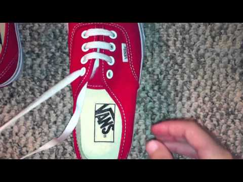 How to straight lace (bar lace) vans with 4 holes