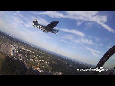 RideAlong! F-18 Hornet/SB2C Helldiver Legacy Flight (Helmet Cam) - 2012 NAS Oceana Airshow