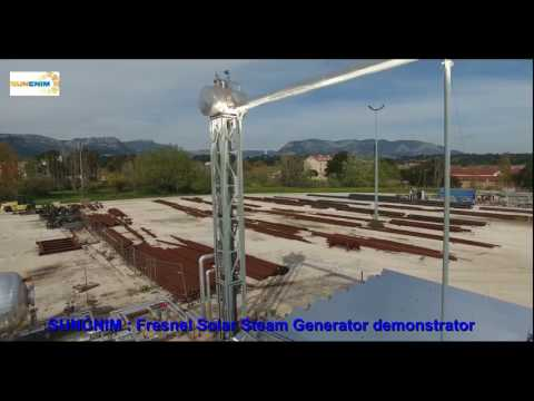 SUNCNIM Fresnel Solar Steam Generator demonstrator