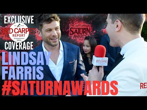 Lindsay Farris #AshVsEvilDead interviewed at the 44th Annual Saturn Awards Red Carpet #SaturnAwards