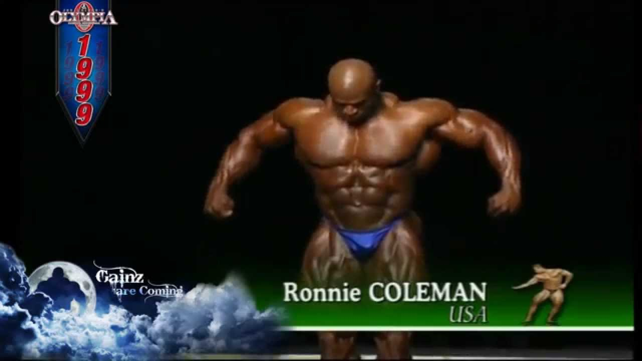 2024c204fc7797 Ronnie Coleman- 1999 Mr. Olympia Pre-Judging - YouTube