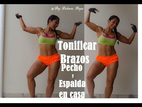 ejercicios en casa para pecho y espalda