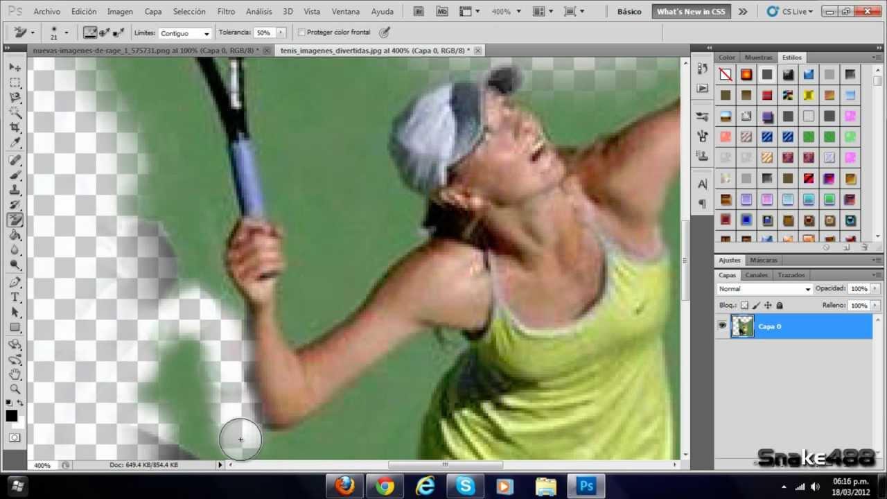 Eliminar borrar cambiar quitar un fondo de una imagen - Herramientas de photoshop ...