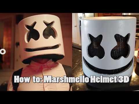 How To  Create DJ Marshmello Helmet 3D with lighting on budget!