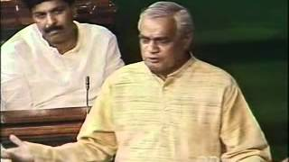 Atal Bihari Vajpayee Speech in Parliament on Confidence Motion - PART 2/2