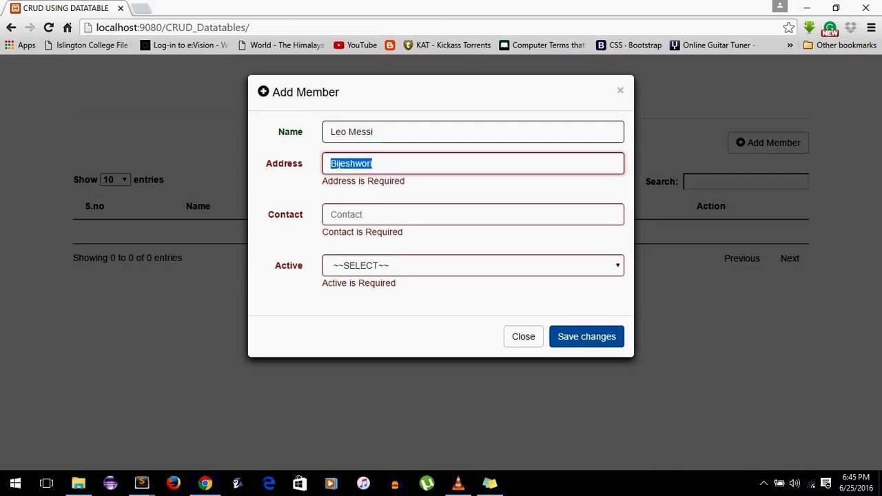 Develop a CRUD (Create, Retrieve, Update, Delete) PHP