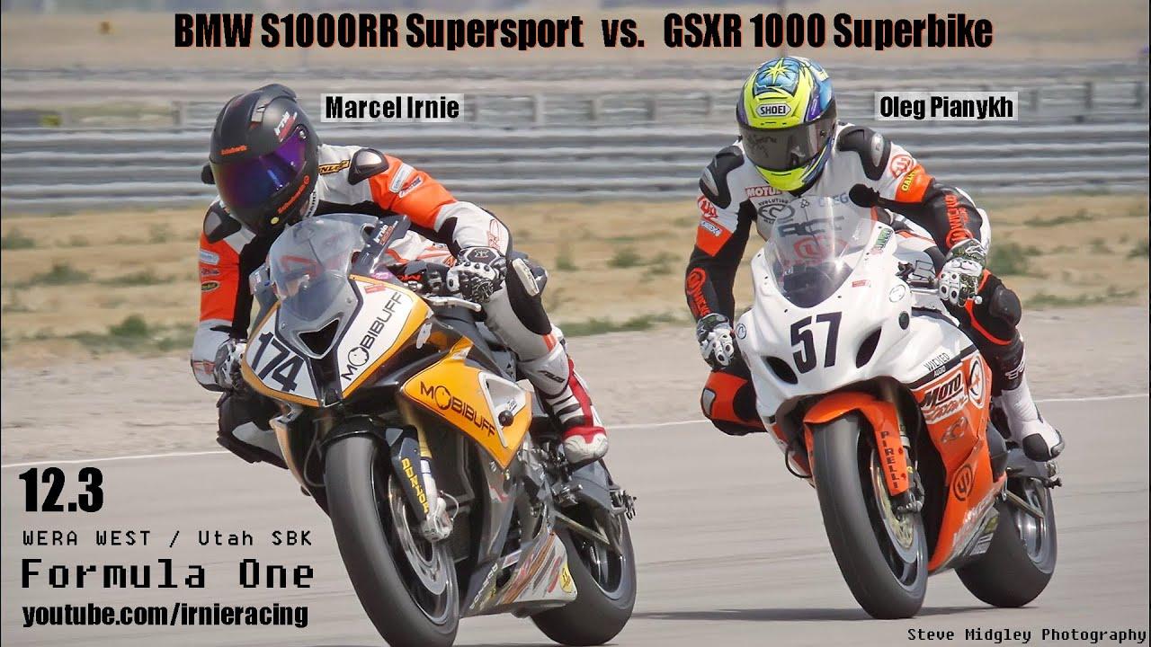 12.3 bmw s1000rr supersport vs. gsxr 1000 superbike (wera f1