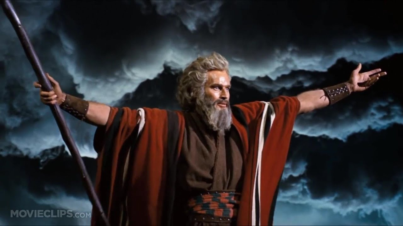 Moses Ten Commandments Movie Parting of The Red Sea...