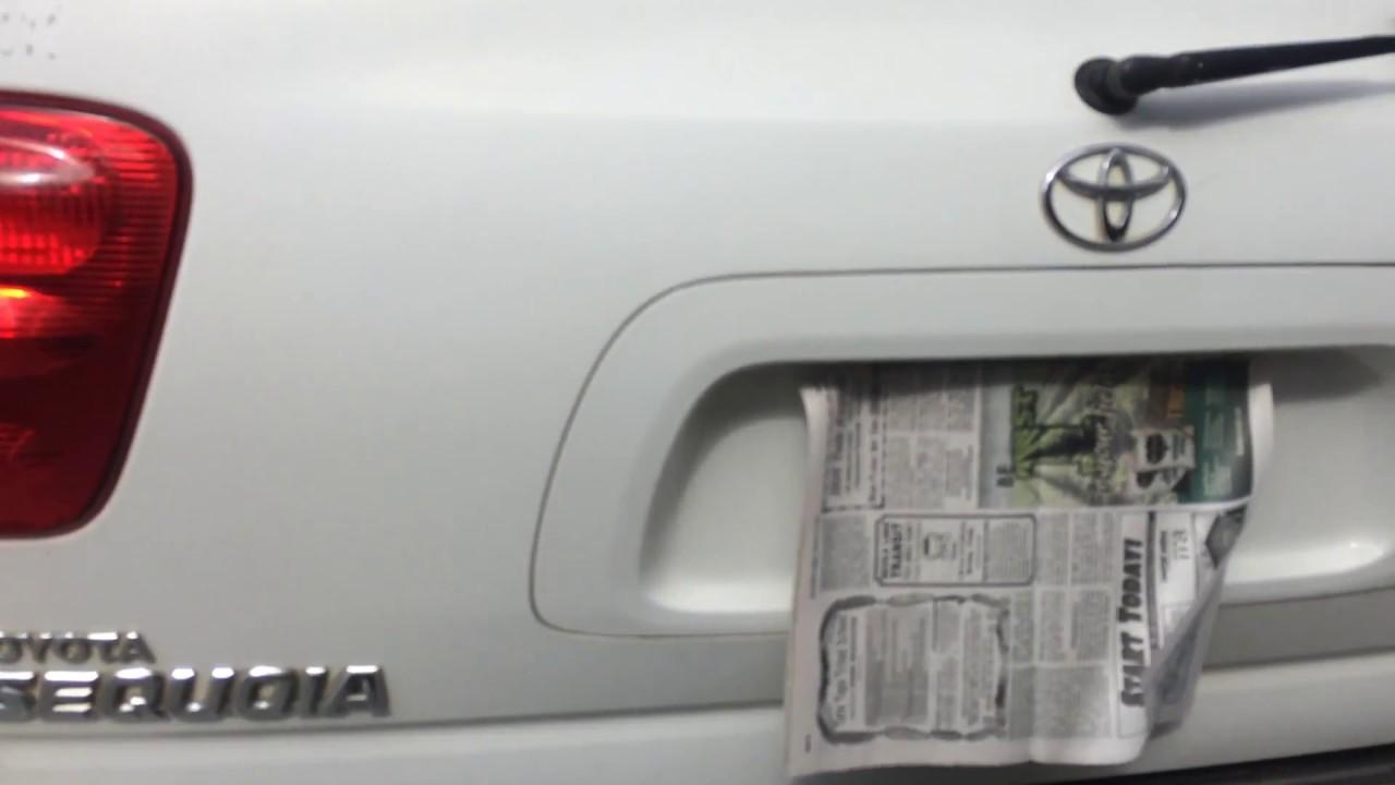 Toyota    Sequoia    broken rear door latch repair  YouTube