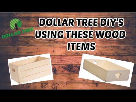 WOOD DOLLAR TREE DIY'S// DOLLAR TREE STORAGE DIY'S