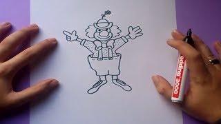 Como dibujar un payaso paso a paso 6 | How to draw a clown 6