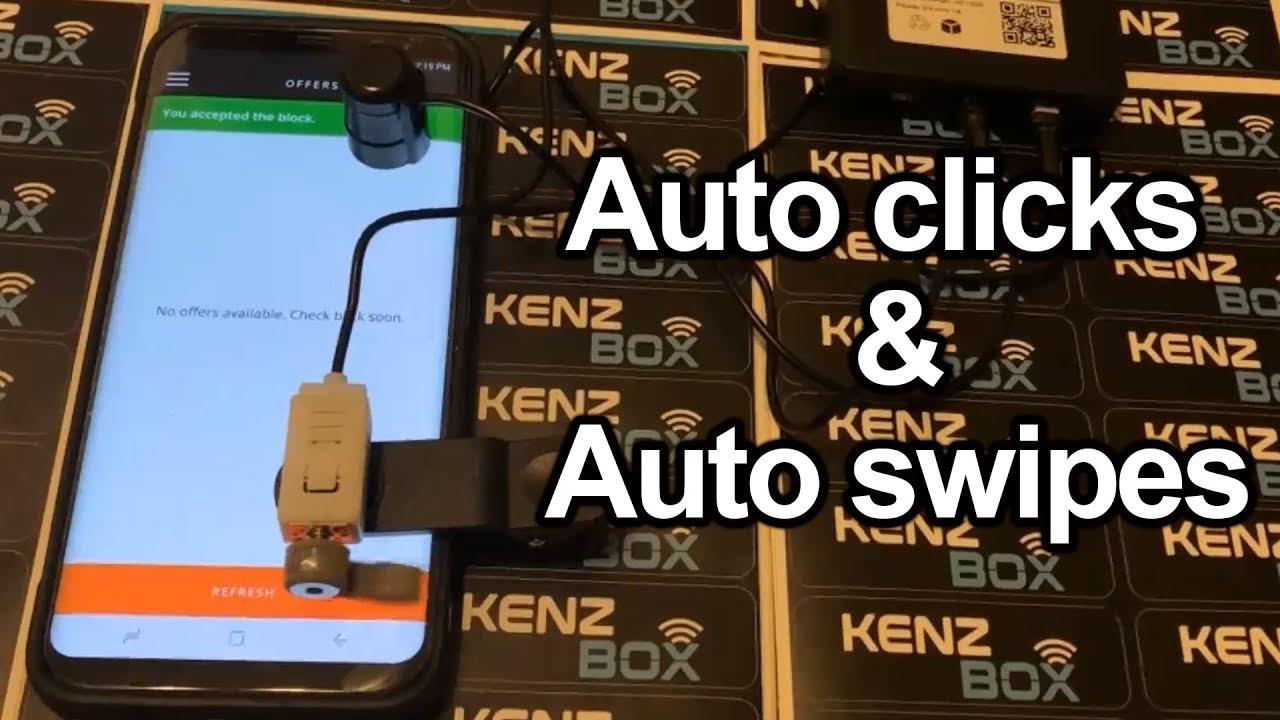 Auto clicker and auto swiper amazon flex swipe to accept