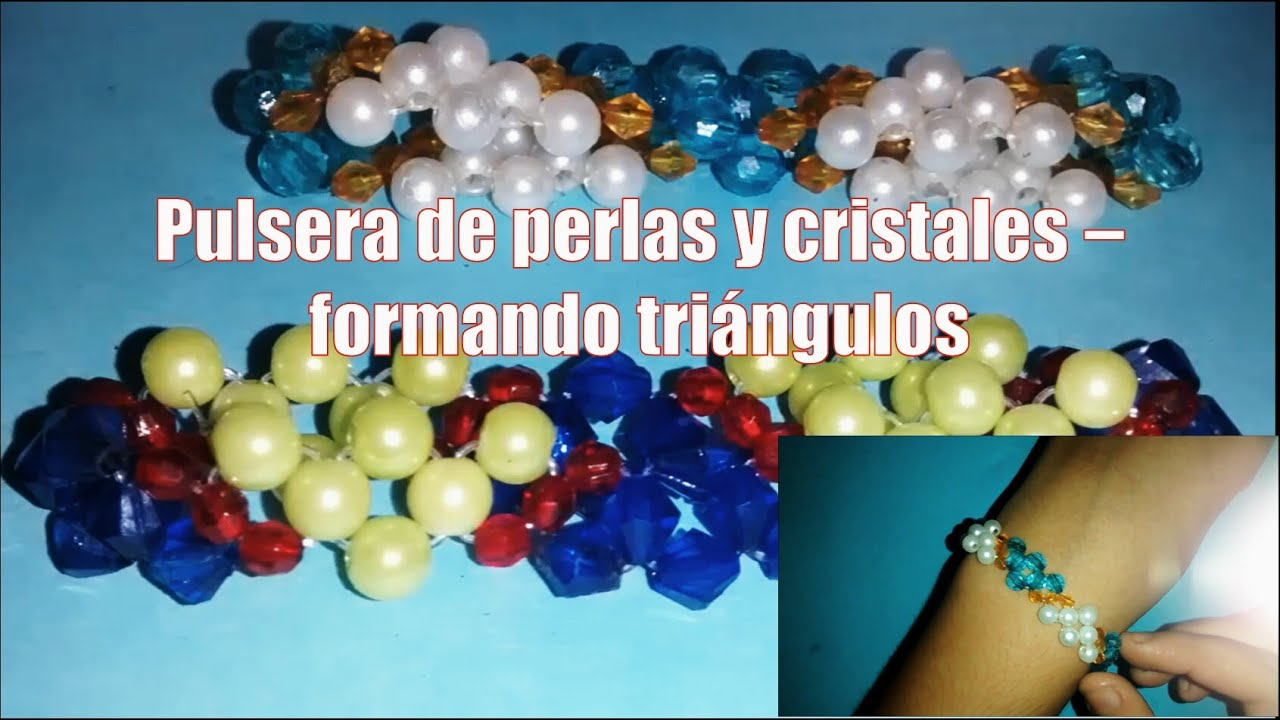 Pulsera de perlas y cristales , Bisutería fina (Tutorial paso a paso)