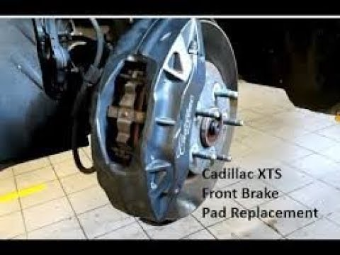 Brembo Brake Pads >> Cadillac XTS Front brake pad replacement - YouTube