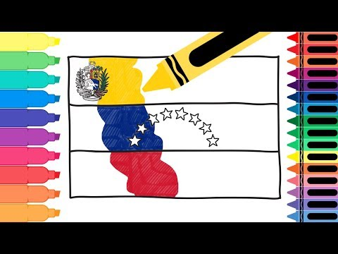 How to Draw Venezuela Flag - Drawing the Venezuelan Flag - Coloring Pages for Kids | Tanimated Toys