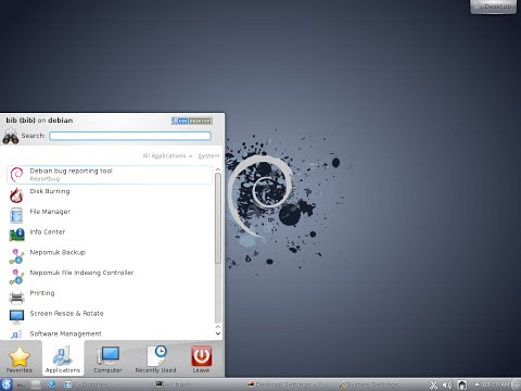 Installation of Debian 7 6 0 64bit  KDE Desktop.  The Universal Operating System