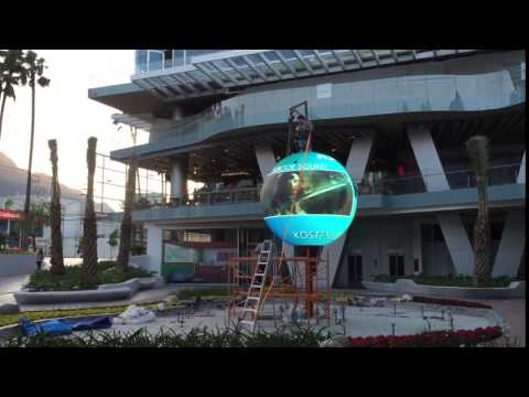 360 degree Outdoor globe led display, LED Ball display, LED Sphere display for the shopping Center